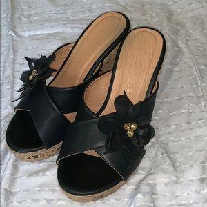 Black Cork Hemp Heels NWT Sz38